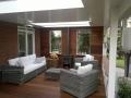 Veranda, Veranda Plaza, Glazen schuifwanden, terrasoverkapping, overkapping, buitenkamer, tuinkamer, Carport houtkachel, lichtstraten, daklichten, balustrade, terrasverwarming, tuin, terras, houten vloer.