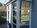 Veranda, Veranda Plaza, terrasoverkapping, overkapping, buitenkamer, tuinkamer, Carport houtkachel, lichtstraat, daklicht, Glazen schuifwanden, balustrade, hekwerk, terrasverwarming, tuin, terras, houten vlondervloer.