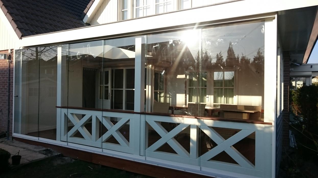 Glazen schuifwanden veranda plaza hier is alles veranda - Hoe dicht terras ...