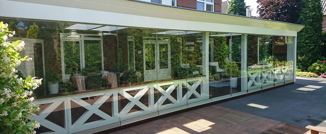 Veranda van Veranda Plaza met Glazen schuifwanden