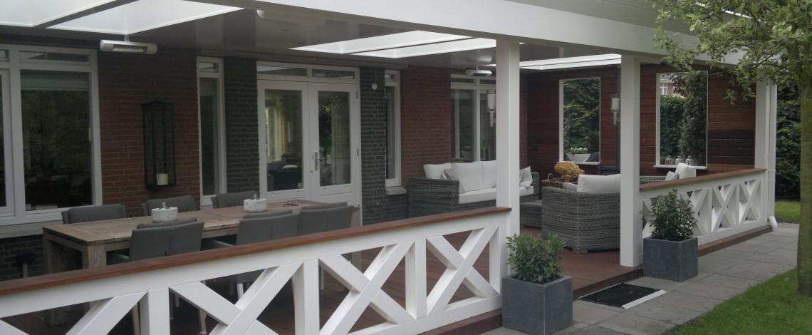 Balustrade veranda bouwmaterialen for Kosten veranda