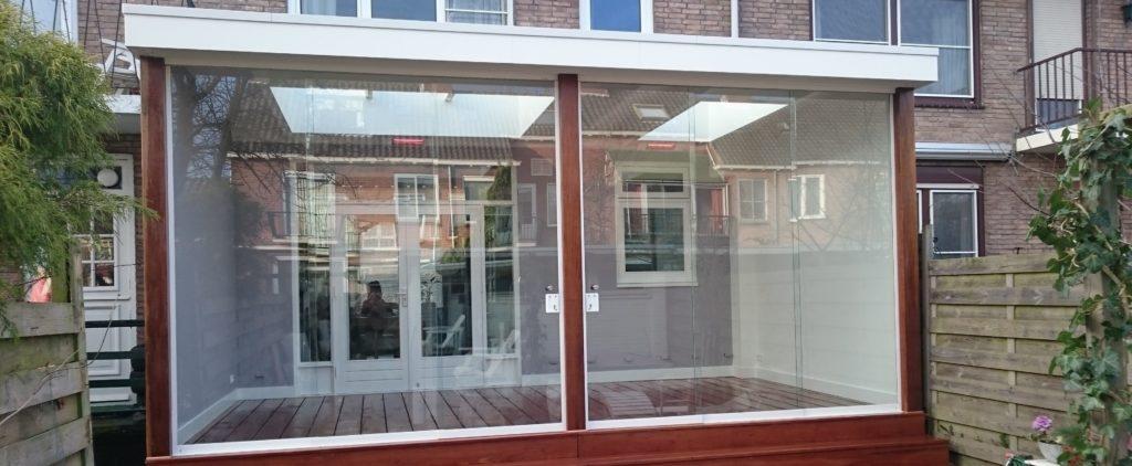 Veranda van Veranda Plaza met luxe glazen schuifwand
